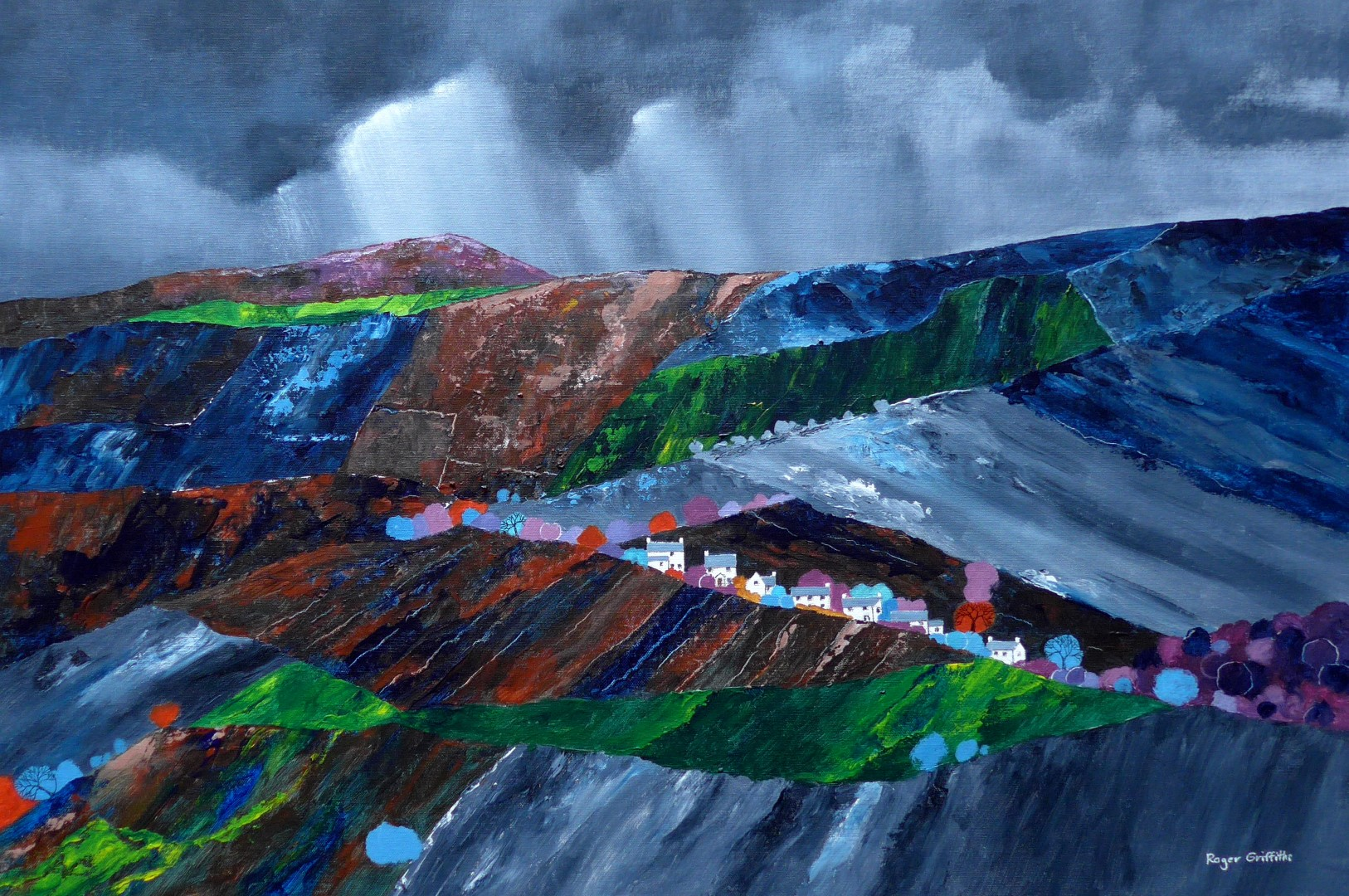 Storm over Skirrid Fawr and Caggle Street Monmouthshire