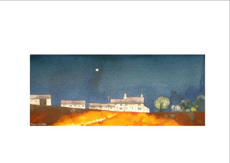 Warrilowhead Farm in moonlight